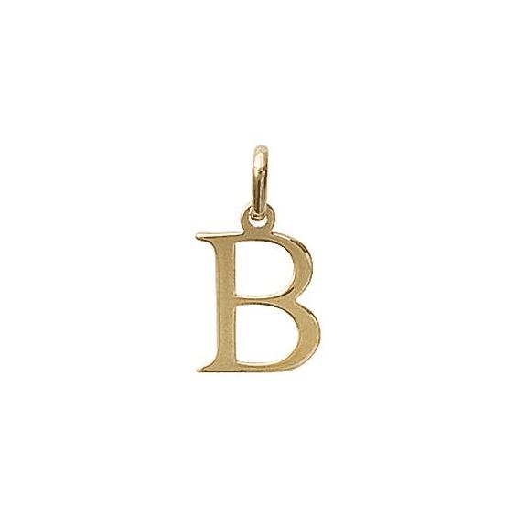 Pendentif lettre B plaqué or - La Petite Française