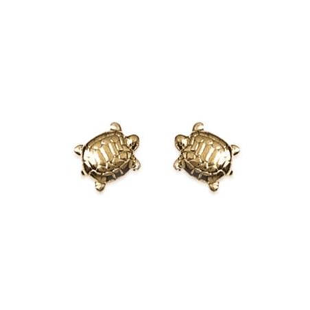 Boucles d'oreilles tortues plaqué or - La Petite Française