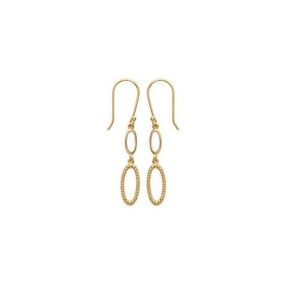 Boucles d'oreilles pendantes Manuella plaqué or - La Petite Française