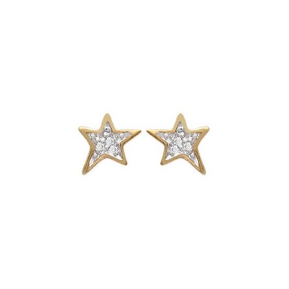 Boucles d'oreilles étoiles en oxyde plaqué or - La Petite Française