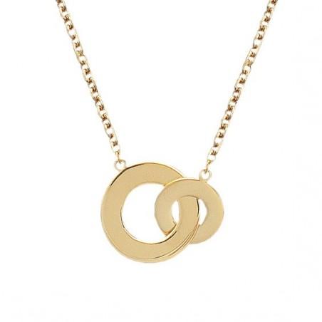 Collier 2 anneaux plaqué or - La Petite Française