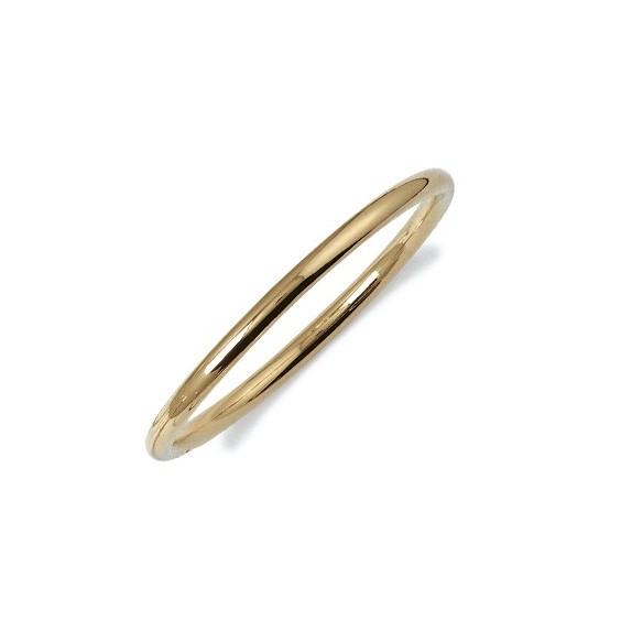 Bracelet jonc rigide 5 mm plaqué or - La Petite Française