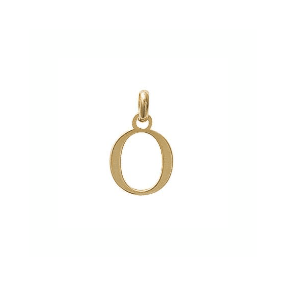 Pendentif lettre O plaqué or - La Petite Française