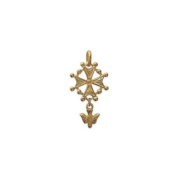Croix Huguenote plaqué or - La Petite Française