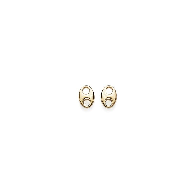 Boucles d'oreilles grains de café plaqué or - La Petite Française