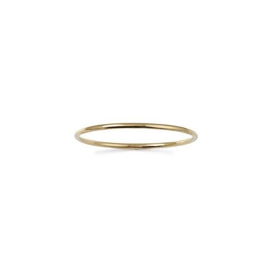 Bracelet jonc rigide 2 mm plaqué or - 66 mm - La Petite Française