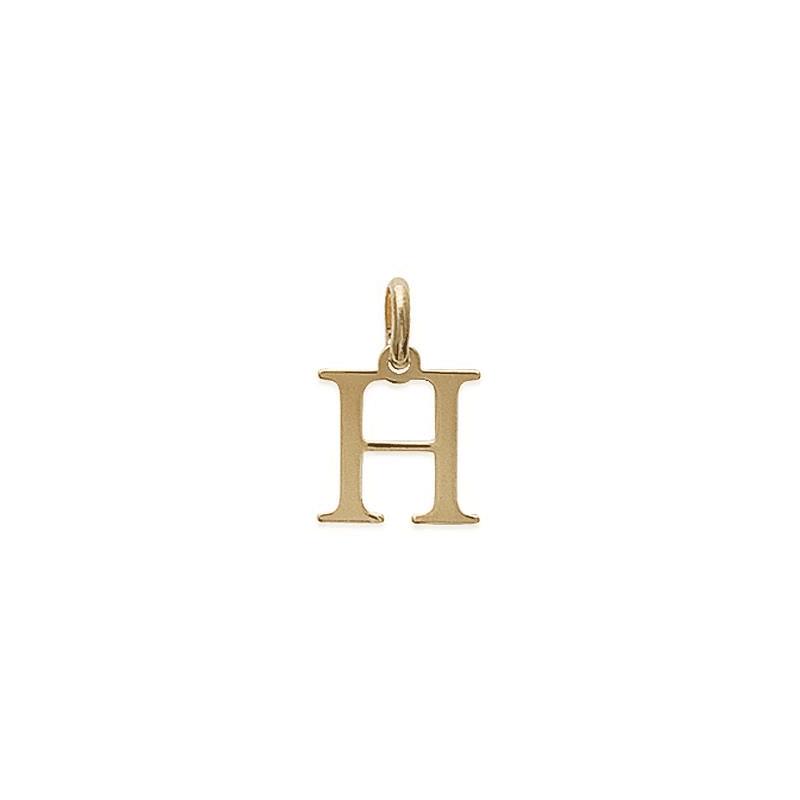 Pendentif lettre H plaqué or - La Petite Française