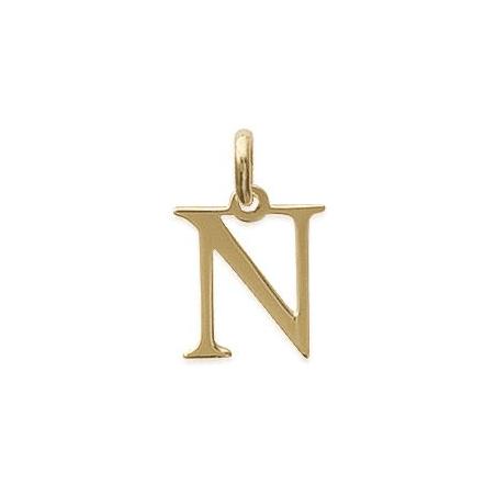 Pendentif lettre N plaqué or - La Petite Française