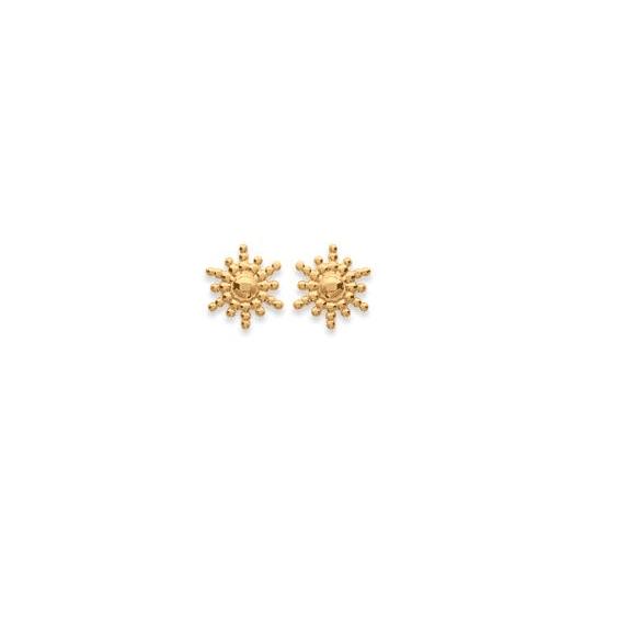Boucles d'oreilles soleil plaqué or - La Petite Française