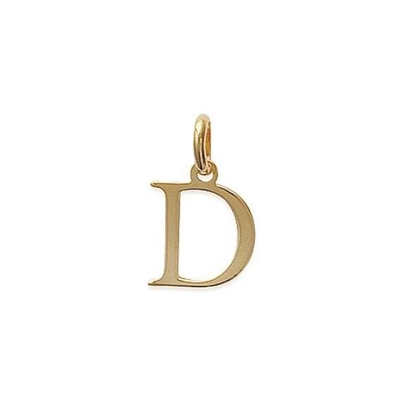 Pendentif lettre D plaqué or - La Petite Française