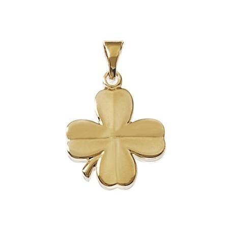 Pendentif trèfle à 4 feuilles plaqué or - La Petite Française