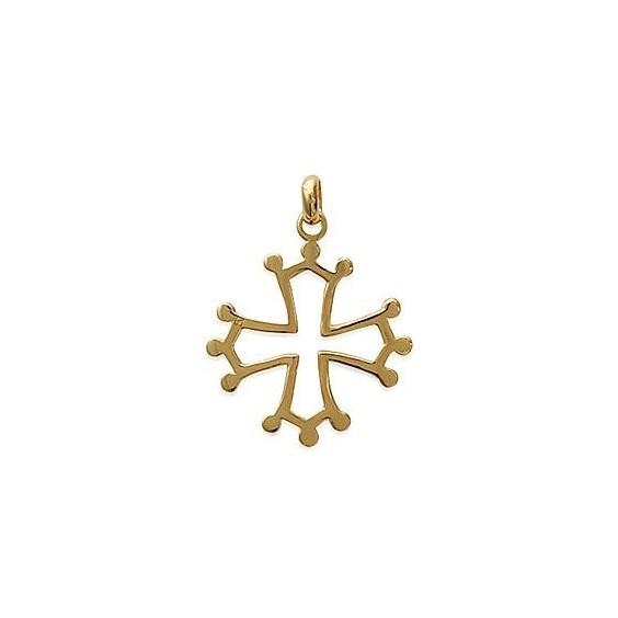 Croix Occitane plaqué or - La Petite Française