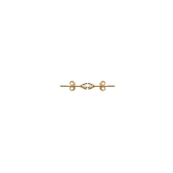 Boucles d'oreilles zirconium rond 3 mm - 4 griffes  plaqué or - La Petite Française