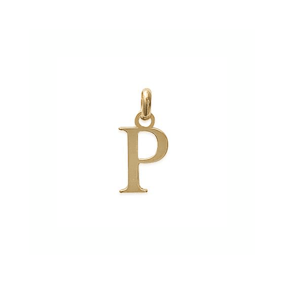 Pendentif lettre P plaqué or - La Petite Française