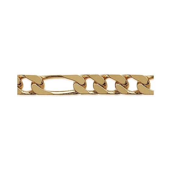 Bracelet maille figaro 1-3  plaqué or - 5 MM - 21 cm - La Petite Française