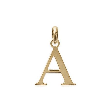 Pendentif lettre A plaqué or - La Petite Française
