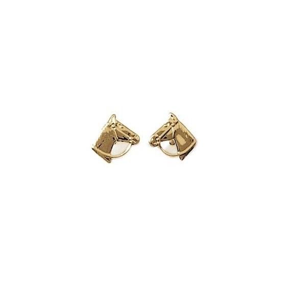 Boucles d'oreilles tête de cheval plaqué or - La Petite Française