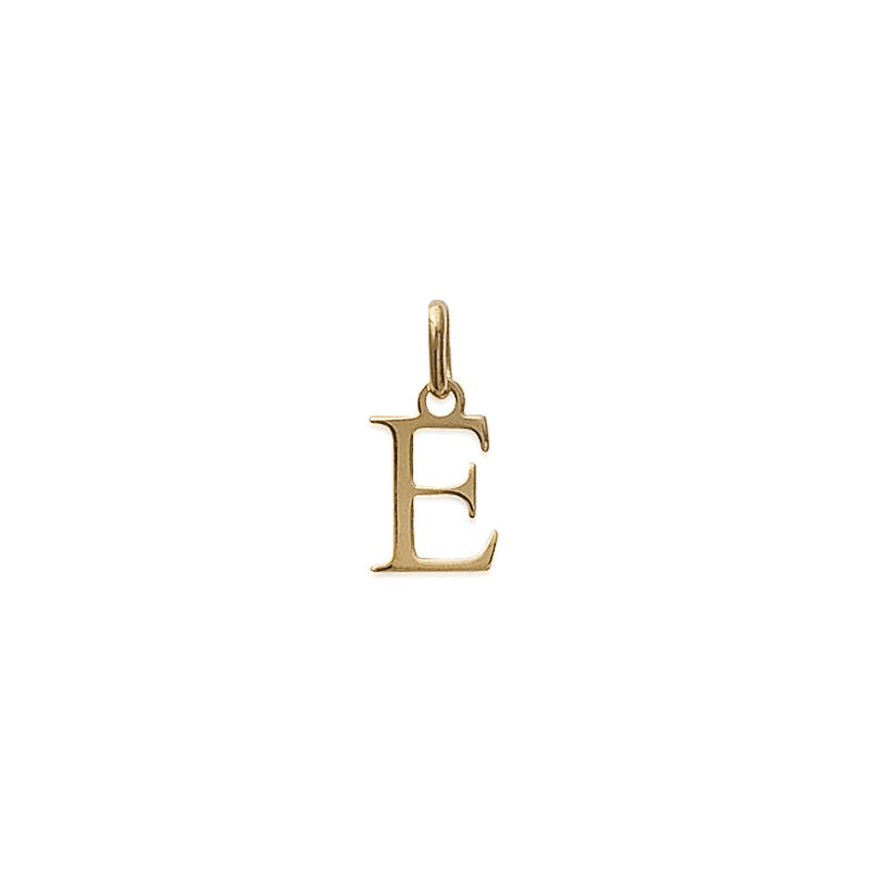 Pendentif lettre E plaqué or - La Petite Française