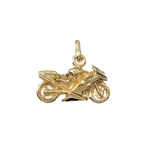 Pendentif moto plaqué or - La Petite Française
