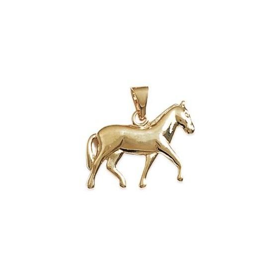 Pendentif cheval plaqué or - La Petite Française