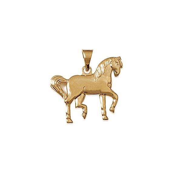 Pendentif cheval de parade plaqué or - La Petite Française