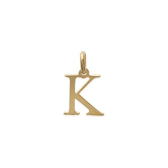 Pendentif lettre K plaqué or - La Petite Française