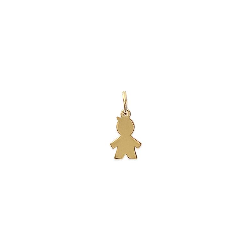 Pendentif petit garçon plaqué or petit modèle - La Petite Française