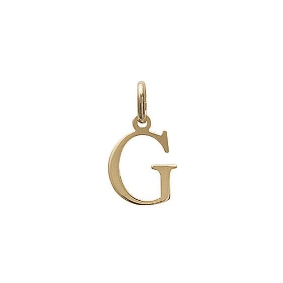 Pendentif lettre G plaqué or - La Petite Française