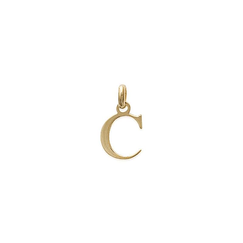 Pendentif lettre C plaqué or - La Petite Française