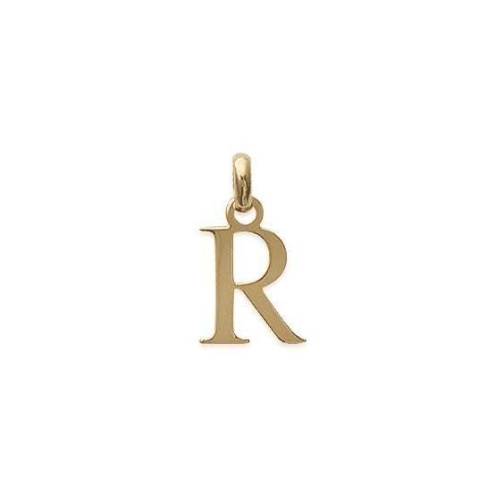 Pendentif lettre R plaqué or - La Petite Française