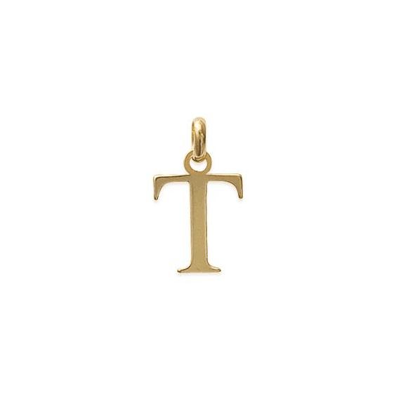 Pendentif lettre T plaqué or - La Petite Française