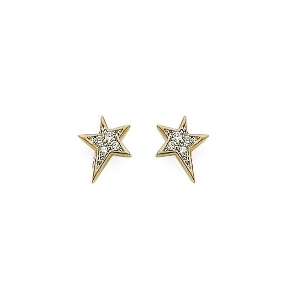Boucles d'oreilles étoiles plaqué or - La Petite Française