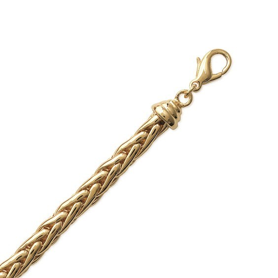 Bracelet maille palmier 6 mm plaqué or - La Petite Française