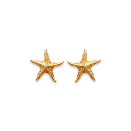 Boucles d'oreilles étoiles de mer plaqué or - La Petite Française