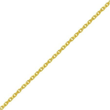 Chaîne maille forçat 1.2 mm - 45 cm plaqué or - La Petite Française