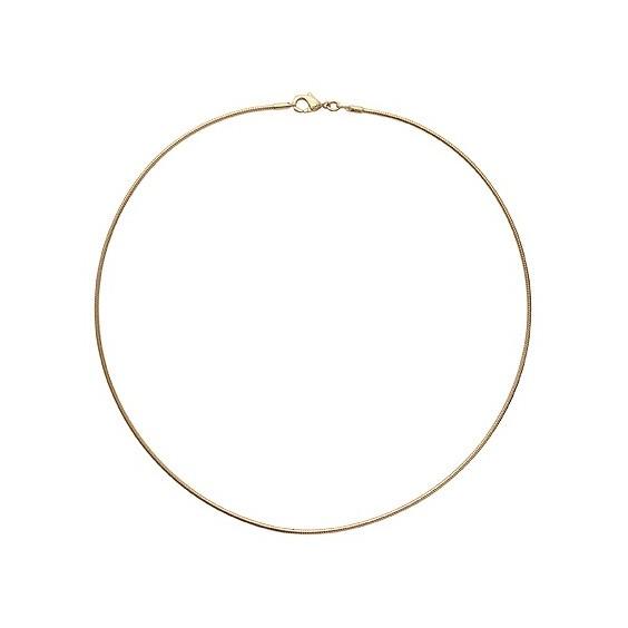 Collier câble oméga plaqué or 1.6 mm - 45 cm - La Petite Française