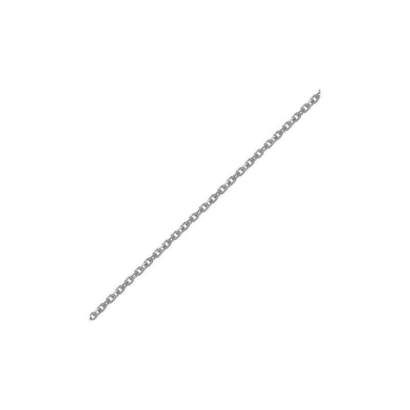 Chaîne forçat 1.45 mm - 40 cm argent rhodié - La Petite Française