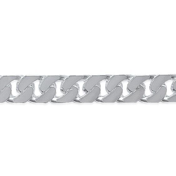 Chaîne maille gourmette argent 8 mm - 55 cm - La Petite Française