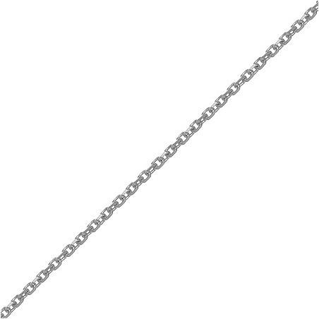 Chaîne forçat 0.80 mm Or 9 carats gris - 38/40 cm - La Petite Française