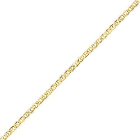 Chaîne marine battue 18 carats jaune 1.50 mm - 50 cm - La Petite Française