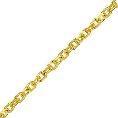 Chaîne forçat Or 18 carats jaune 1.6 mm - 60 cm - La Petite Française