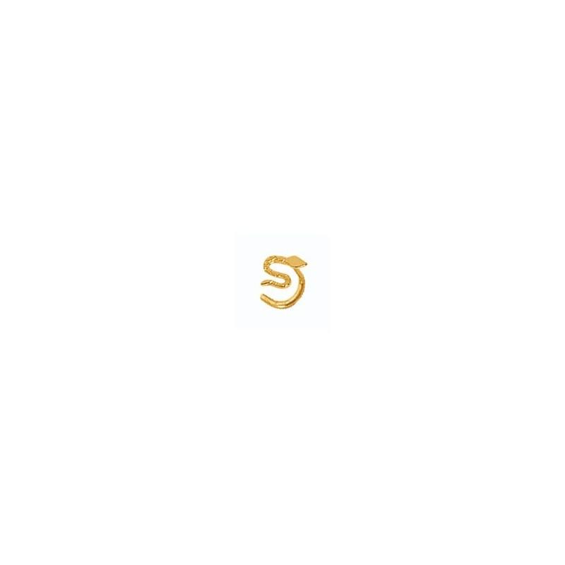 Piercing nez serpent Or 18 carats jaune - La Petite Française