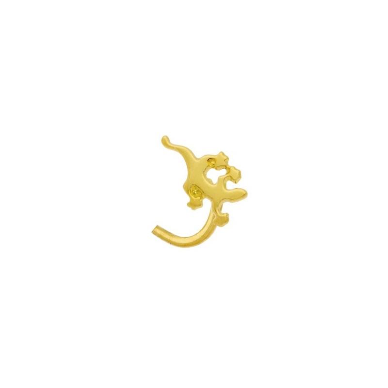 Piercing nez salamandre Or 18 carats jaune - La Petite Française