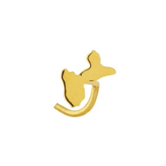 Piercing nez Guadeloupe Or 18 carats jaune - La Petite Française