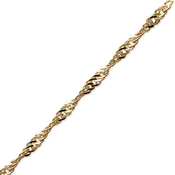 Chaîne de cheville singapour Or 18 carats jaune - 1.8 MM - La Petite Française