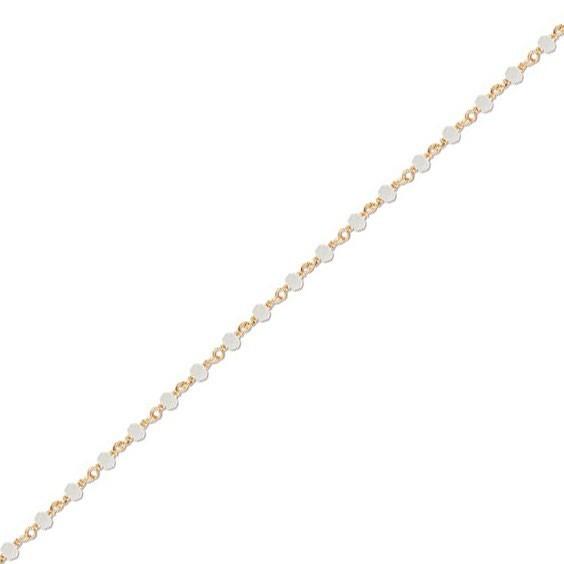 Collier enfant cristal blanc plaqué or - La Petite Française
