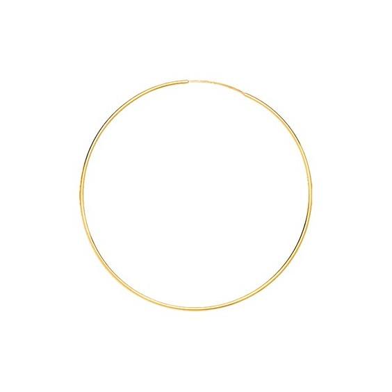 Créoles fil 1mm Or 9 carats jaune - 50  mm - La Petite Française