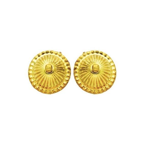 Boucles d'oreilles boule choux Or 18 carats - 10 MM - La Petite Française
