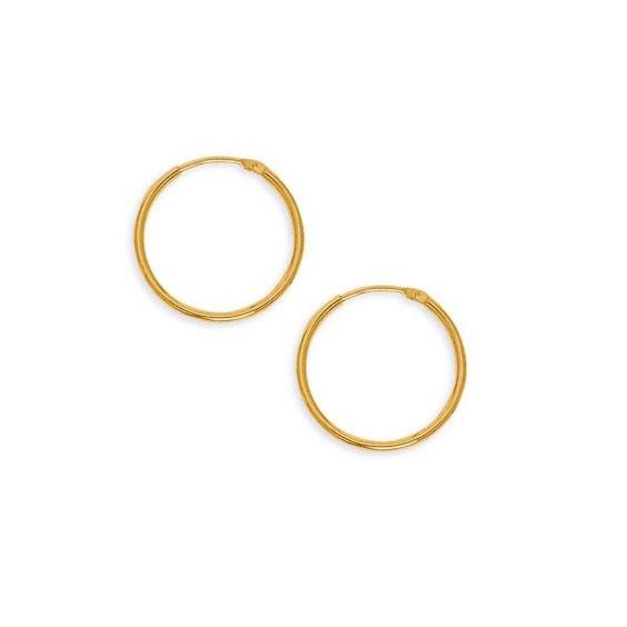 Créoles fil rond 1.5  mm - Or 18 carats jaune - 20  mm - La Petite Française
