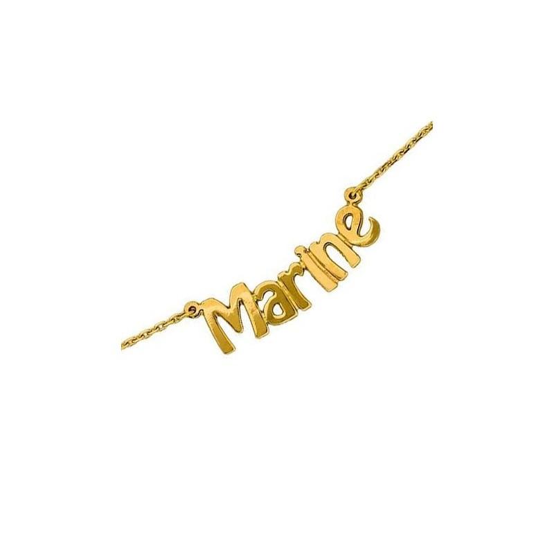 Collier prénom découpé Or 18 carats jaune - La Petite Française